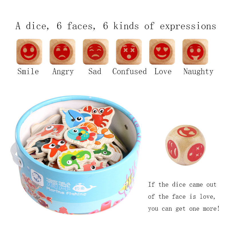 newest Wooden Magnetic child Fishing toy 60pcs fishing toys early learning toy gifts Free shipping XWJ384-