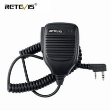 New 2 Pin Handheld PTT Speaker Mic for Kenwood BAOFENG UV-5R BF-888S Retevis UV 5R H777 TYT WOUXUN J6300A