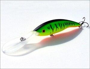 Image 4 - 2 adet uzun dil zoka yapay balık 14g 13.5cm sert yem yüzen Crankbait Pesca Topwater Wobblers balık olta takımı