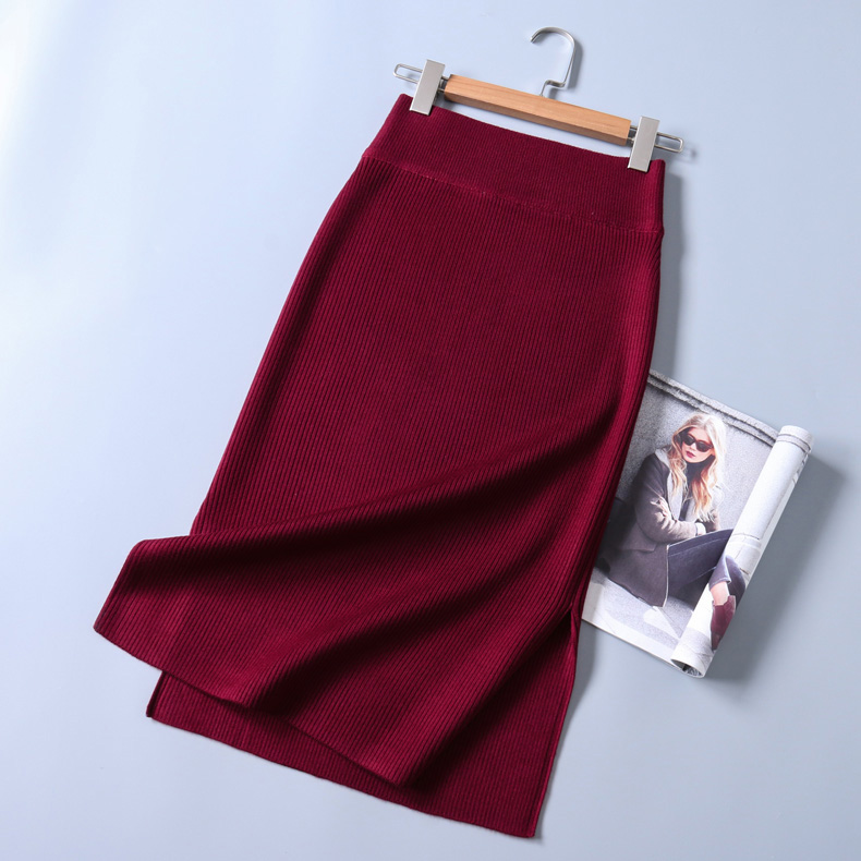 New 2016 Knitting font b Skirts b font Autumn Women Elegant font b Women S b