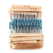 560pcs 56 Types 1/4w Resistance 1% Metal Film Resistor Electronic Assorted Resistance Components Kit