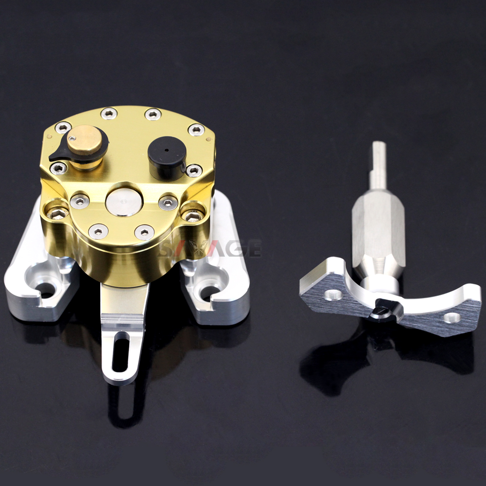 Steering Damper Stabilizer For DUCATI Monster 696 695 2008-2014 Motorcycle Accessories Adjustable with Mounting Bracket