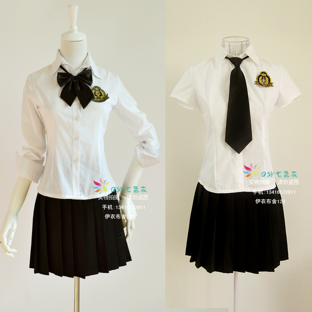 New British academism Navy blue black skirt Japanese uniform Fashion women girl`s School uniforms suit plus size S-XXXXL
