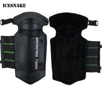 ICESNAKE Genuine Leather Motorcycle Knee Pads Mountain Bike Outdoor Sports Motorcross Kneepad Moto Racing Protective Gear