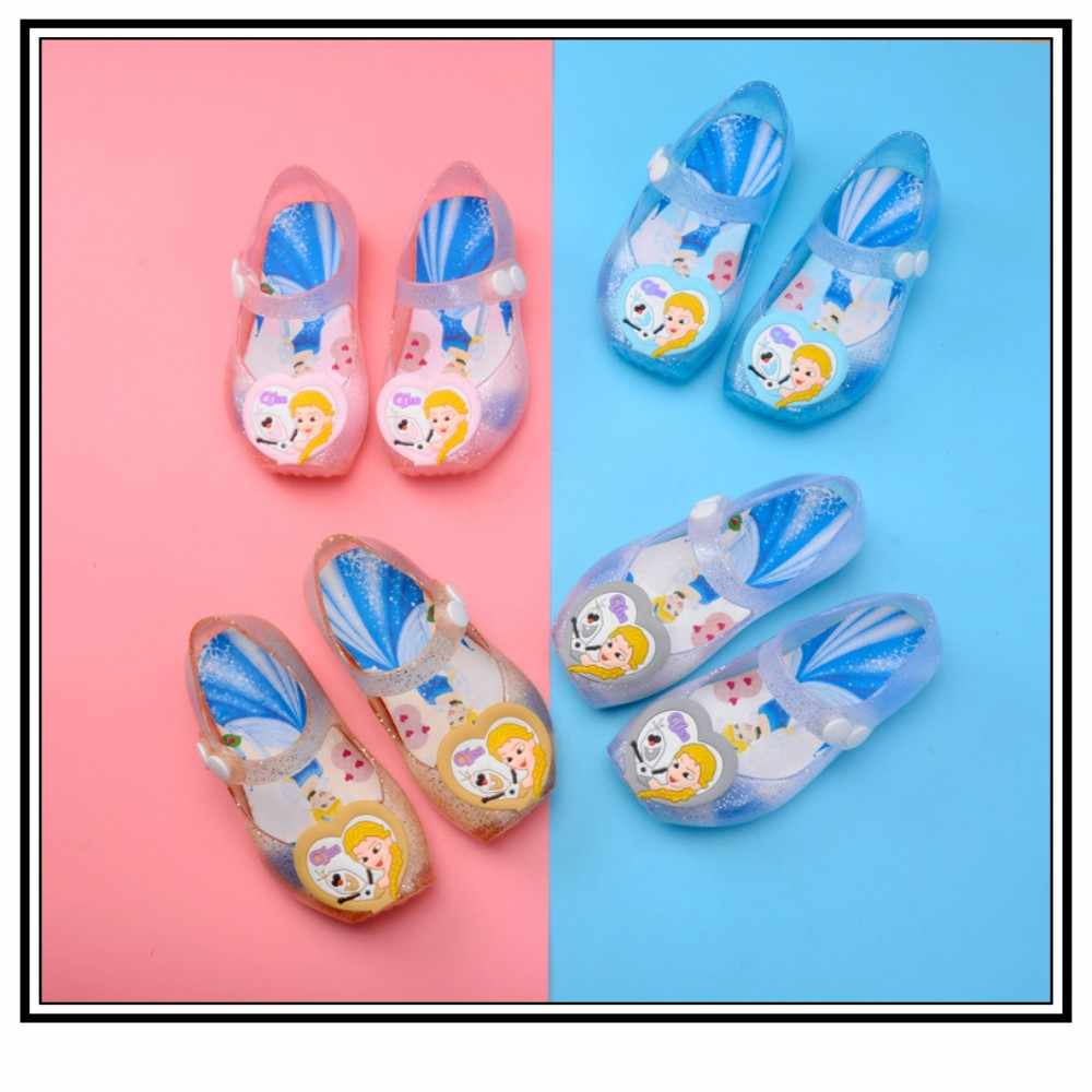 f4a1302fcba3a Summer Children Jelly Shoes Toddler Kids Candy Color Cute Non-Slip Sandals  Flats for Girls