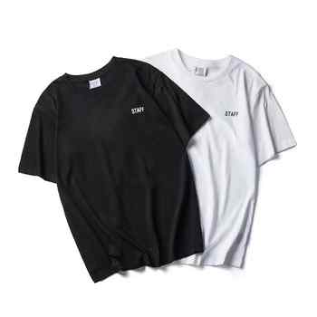 2018 Summer NEW TOP SS16 Vetements Letter print Men  Women Black White short Sleeve T shirt Hip Hop STAFF Fashion Casual Cotton - DISCOUNT ITEM  20% OFF All Category