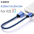 For iphone 7 6 6s Plus SE USB Cable Short Nylon Braided Data Charging Power Cord for APPLE iPad 4 Pro Air mini Power Bank 3