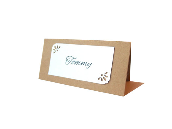 vintage place cards rustic wedding birthday bridal baby showr party