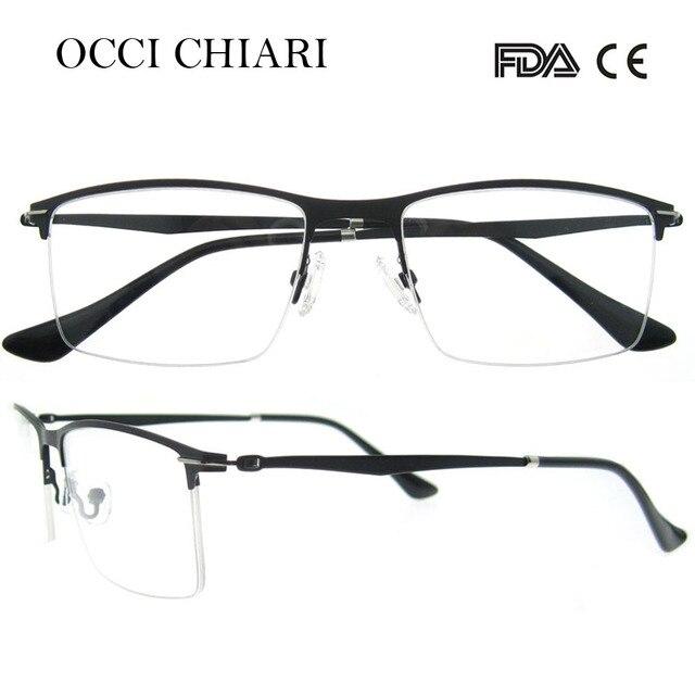 2ceeeeee43e OCCI CHIARI 2018 New Arrival Stainless Steel Metal Computer Anti-blue Ray  Glasses Clear Optical