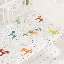 Cartoon 100%Cotton Baby Crib Fitted Sheet Soft Baby Bed Mattress Cover Protector Newborn Bedding Sheet For Cot Size(120*70)