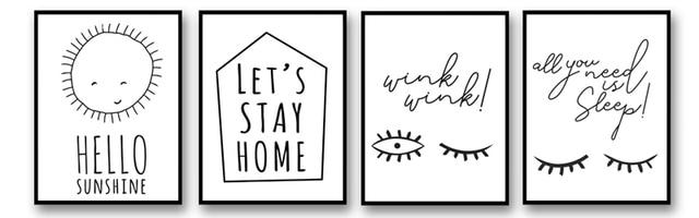 Foocame Sol Dos Desenhos Animados Carta Olho Linear Minimalismo