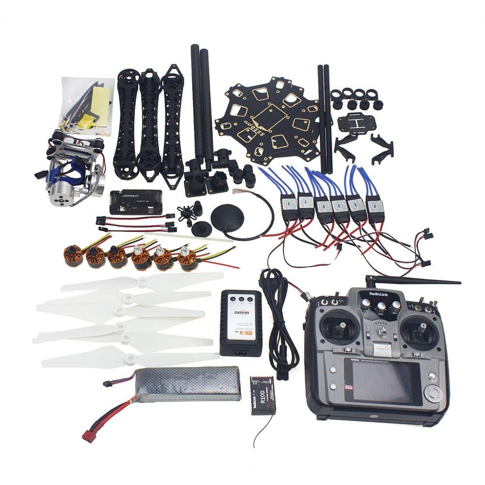 JMT Full Set RC font b Drone b font Aircraft Kit HMF S550 Frame 6M GPS