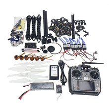 JMT Full Set RC Drone Aircraft Kit HMF S550 Frame 6M GPS APM 2.8 Flight Control AT10 Transmitter Gimbal Camera Mount