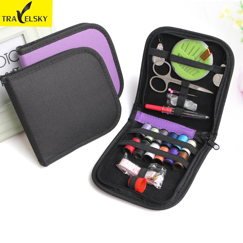 Upgrade Sewing Kits Portable For Travel Home Needle Tape Scissor Multifunction DIY Home Tools 4colors Choic  Free Shipping 13713