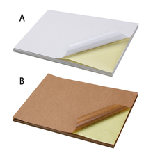 Blank Copy-Paper Label Inkjet-Printer Self-Adhesive A4 for Office Laser Packaging Kraft-Matt