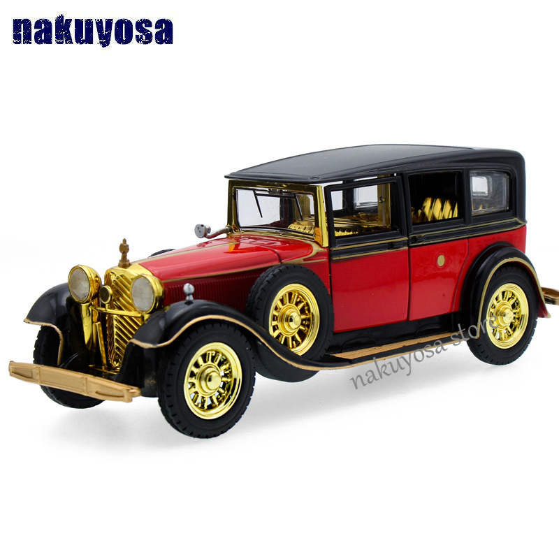 Musical Flashing alloy Retro Pull Back classic cars Antique car toy ...