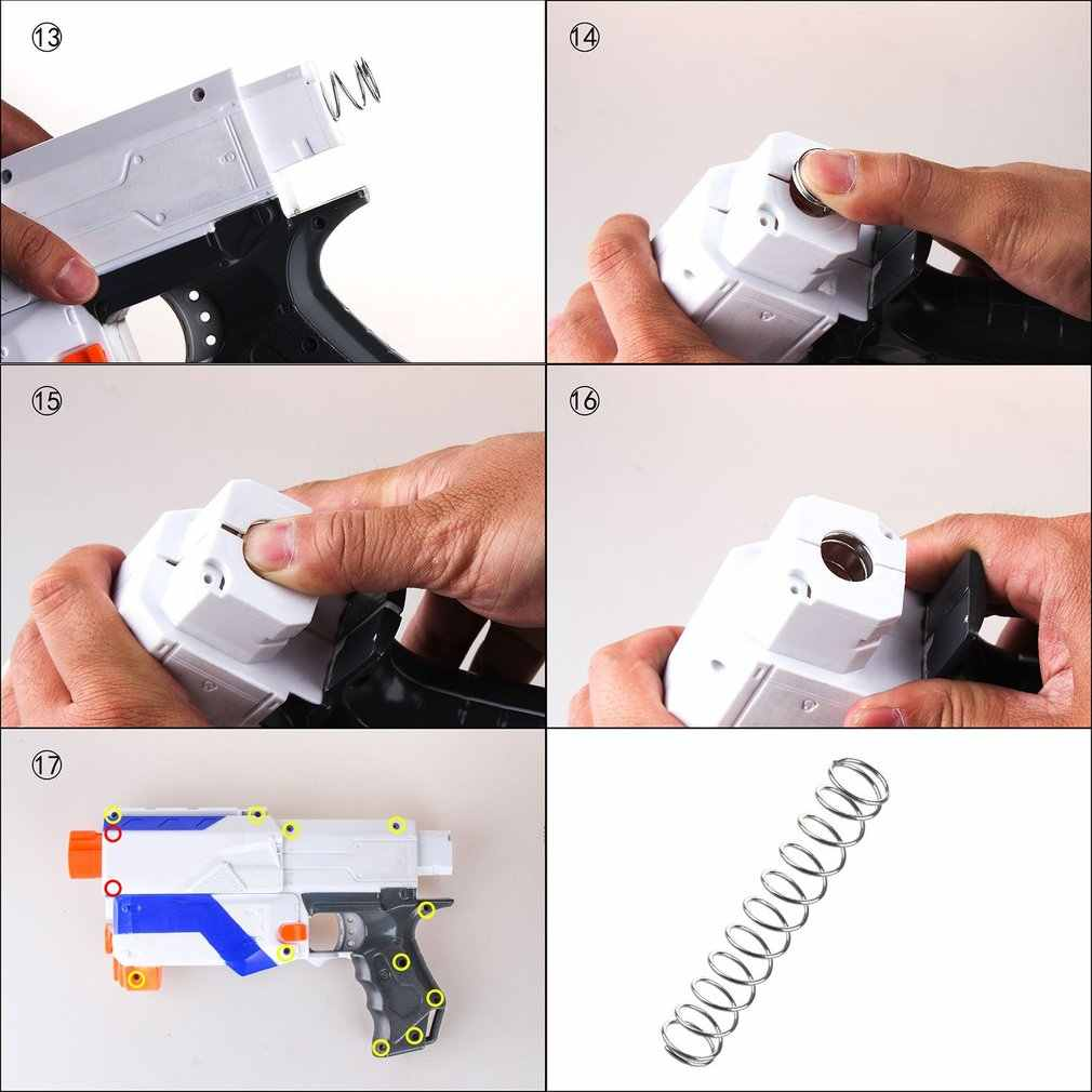WERKNEMER Gemodificeerde Staal Lente voor Nerf N-Strike Elite Retaliator 25N 7KG 9KG 12KG Kinderen Speelgoed gun Accessoires Eenvoudige Installatie