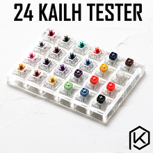 24 schalter tester mit acryl basis blank tastenkappen für mechanische tastatur kailh box schwere pro lila orange gelb gold