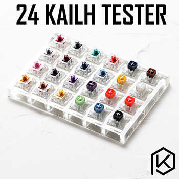 24 switch switches tester with acrylic base blank keycaps for mechanical keyboard kailh box heavy pro purple orange yellow gold - DISCOUNT ITEM  0% OFF All Category