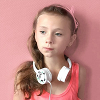 Oneodio Kids Headphones Girls Boys Birthday Gifts Cute Cartoon Panda Wired Headset Earphone Children Fone De