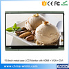 16 9 Display 1080p Wall Mounted Lcd Advertising Screen 15 6inch VGA HDMI Lcd Monitor Digital