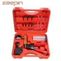 2 in 1 Brake Fluid Bleeder DIY Hand Held Car Vacuum Pump Pistol Tester Kit Auto Oil Change Pistol Pump Tool Kits