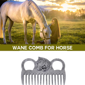 Stainless Steel Horse Pony Grooming Comb Tool Curry Comb Metal Horse Grooming Tool For