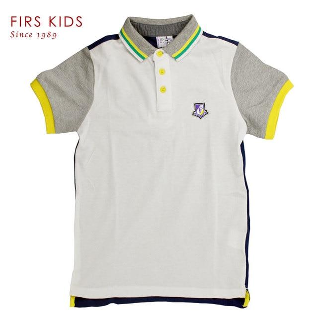 2016 summer brand children t-shirts short sleeve turn down collar 100% cotton boys clothes casual fashion kids tops wear-40