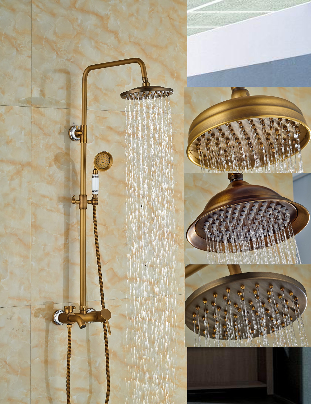 Wholesale And Retail Antique Brass Wall Mounted 8
