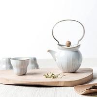 Japanese Style Teapot Set Ceramic Home Office Tea Pot Kung Fu Porcelain Tea Set Cups Kettle 1 Pot 4 Cups Best Gifts