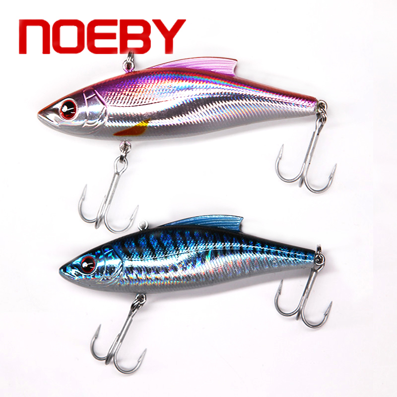 Noeby 2 pcs/lot Vib Crankbait Fishing Lures Hard Artificial Baits 90mm 33g/pc Lifelike VIB Lure Sinking Fishing Baits Fake Baits