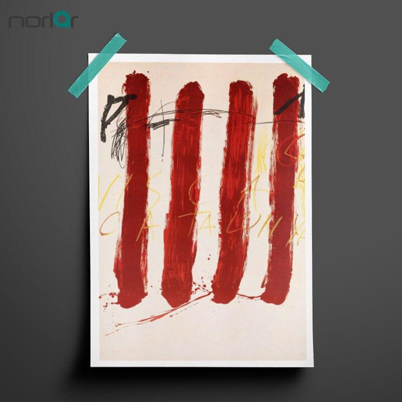 Tapies Antoni Tapies Visca Catalunya Abstract Art Canvas Art Printing Wall Art Poster Oil Paintings NO FRAME For Home Decor