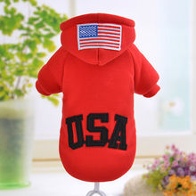 Dog Coat Jacket Winter Warm Dog's Clothes Hoody Sweater Red Gray Black Cotton-padded Dog Clothes Poodle Teddy Costumes Apparel
