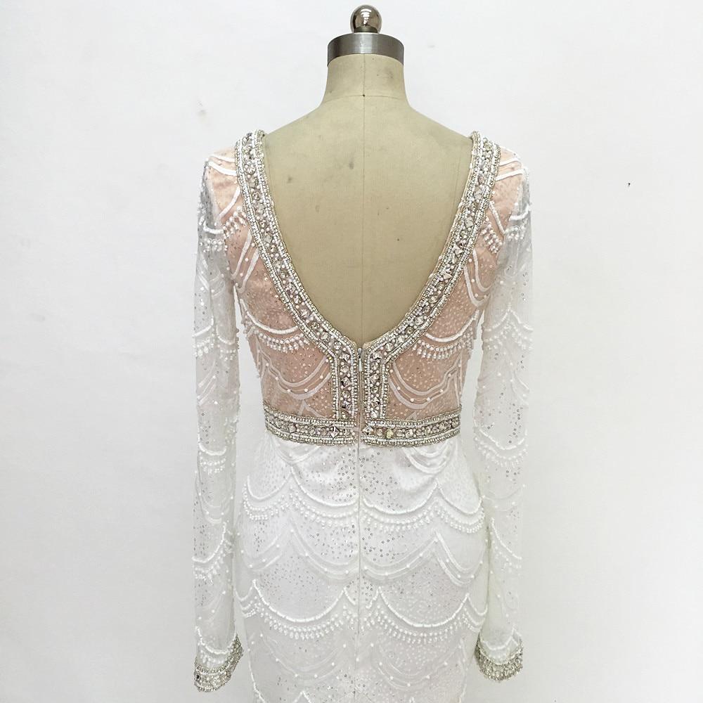 Champagne sjöjungfru snörning brudklänning 2017 Backless Vestidos - Bröllopsklänningar - Foto 5