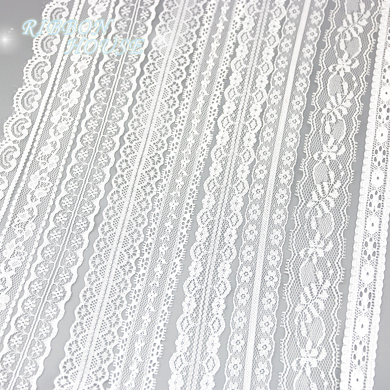 (5 yards/roll) white lace fabric Webbing Decoration packing Material roll wholesale-in Lace from Home & Garden on Aliexpress.com | Alibaba Group