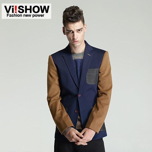 2016 новое поступление мода пиджак мужчины однобортный лоскутная свободного покроя мужской пиджак мужские весна осень досуга блейзер костюм