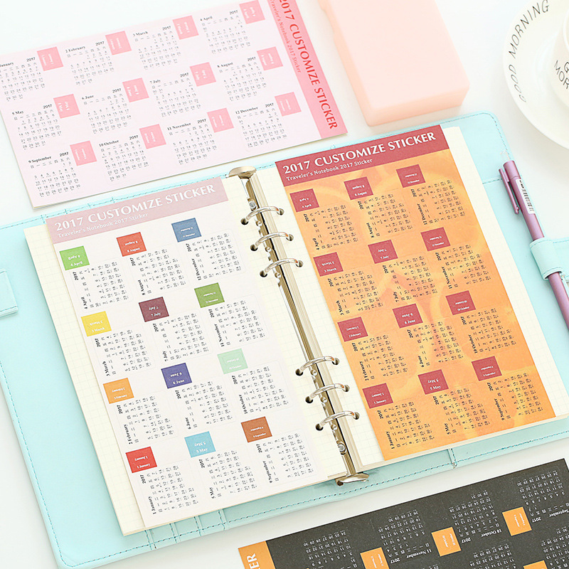 Diy Calendar Supplies : Diy customize calendar sticker sheet cm
