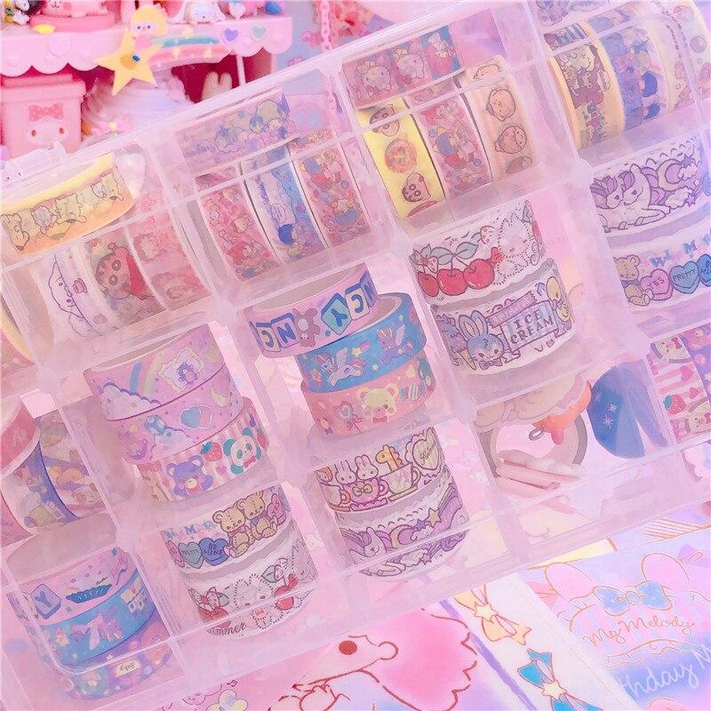 15 grilles japonais papeterie masquage ruban Cutter Washi ruban stockage organisateur Cutter bureau ruban distributeur fournitures