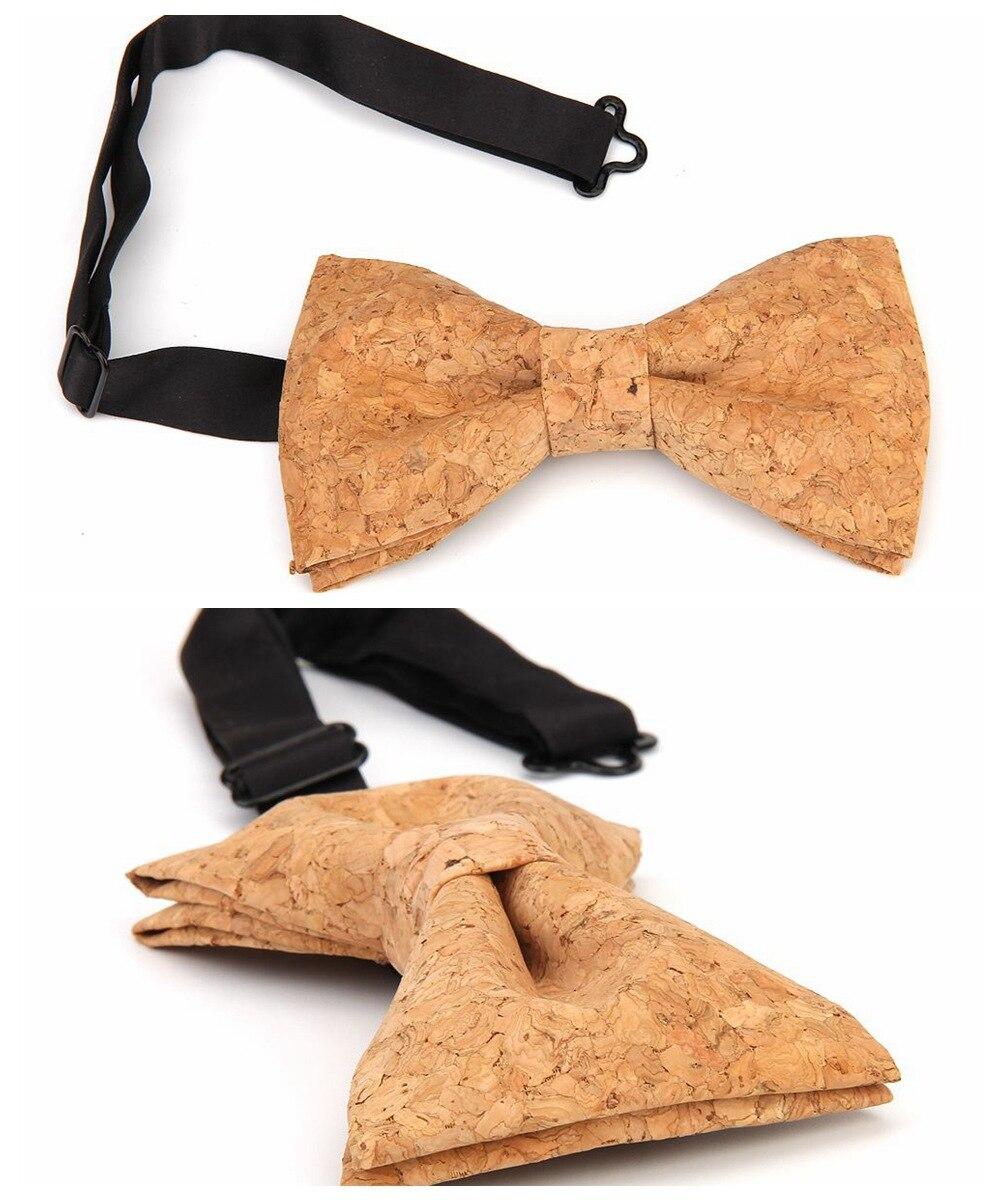 New Handmade Wooden Cork Bamboo Bow Tie Bowtie Men's Cravat 62