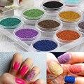 12 Cores Da Arte Do Prego 3D Decorações de Alta Qualidade 3D Miçangas Caviar Manicure Nail Art Esfera De Aço Esfera de Aço 85169