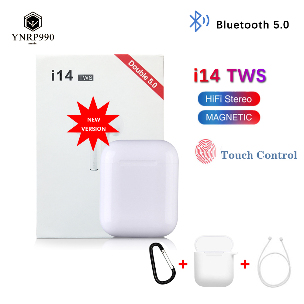 <font><b>i14</b></font> <font><b>tws</b></font> Headset 1:1 In-ear Wireless fone Bluetooth 5.0 Earphone Earbuds Touch Control Sport for iphone xiaomi audifonos elari image