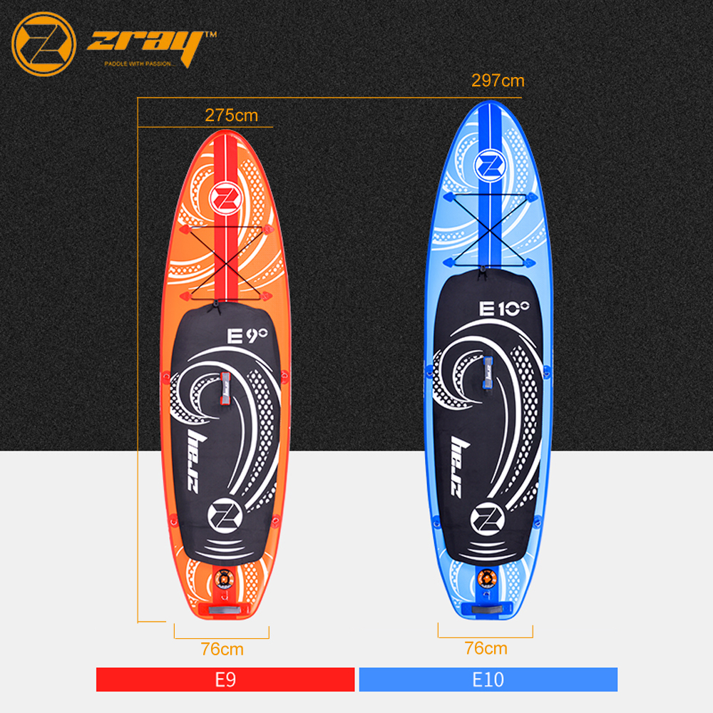 Nouveau design Zray E9 E10 gonflable sup stand up paddle board planche de surf