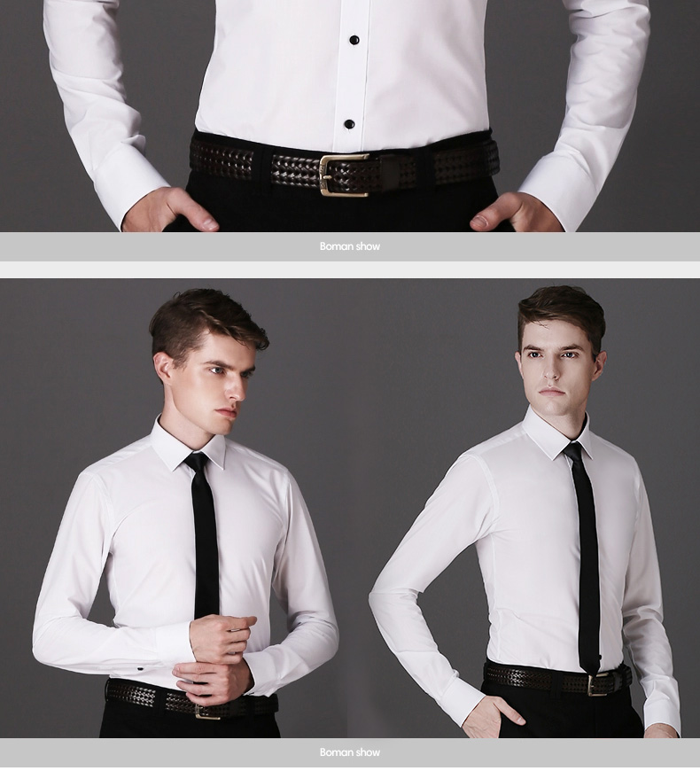 DAVYDAISY High Quality Men Shirt Long Sleeve Twill Solid Formal Business Shirt Brand Man Dress Shirts DS085 7