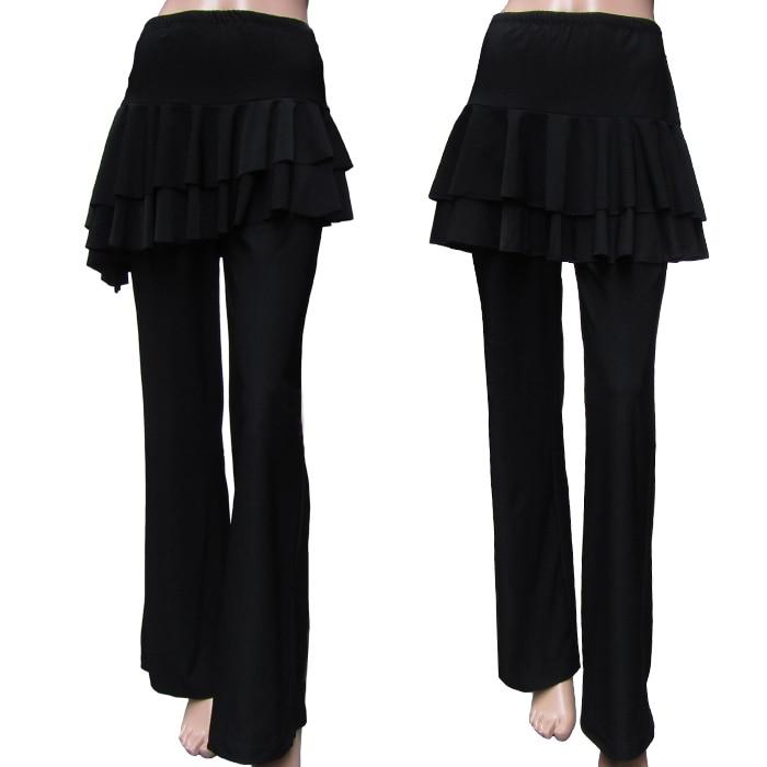 Prix pour M-3XL plus la taille Femmes Yoga pantalon de danse Latine divisé jupe Nouvelle culotte de danse Latine carré de danse vêtements de danse du ventre XC-5221