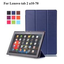 Для Lenovo Tab2 A10 70 чехол Tablet для Lenovo Tab 2 A10-70 A10-70F A10-70L Tablet 10.1 PU кожаный чехол + пленка + Стилусы ручка