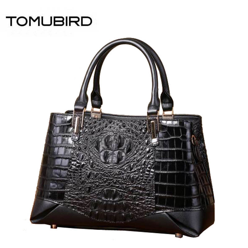 Women genuine Leather bags superior cowhide bags for women 2018 new Crocodile pattern tote women handbags women famous brands цена