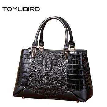 Women genuine Leather bags superior cowhide  bags for women 2020 new Crocodile pattern tote women handbags women famous brands