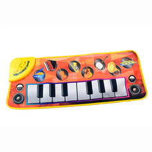 New Touch Play Keyboard Musical Music Singing Gym Carpet Mat Best Kids Baby Gift Multicolor Unisex Educational Toys Gift(China)