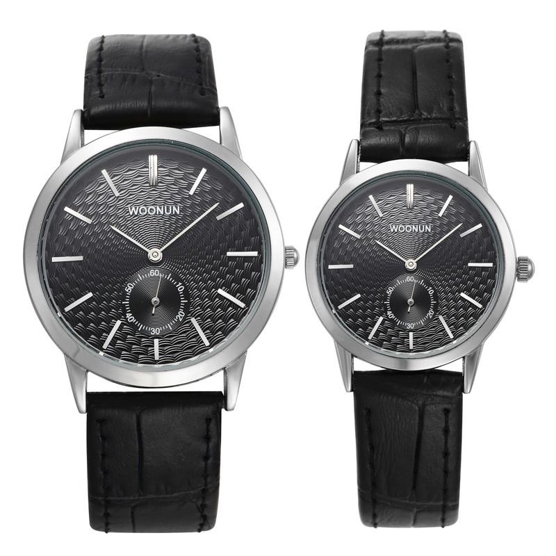 Woonun Fashion Ultra Thin Watches Men