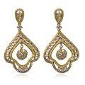 Mulheres na moda Brinco material de cobre com banhado a ouro e branco CZ moda jóias Brincos Flor Gota remessa Livre